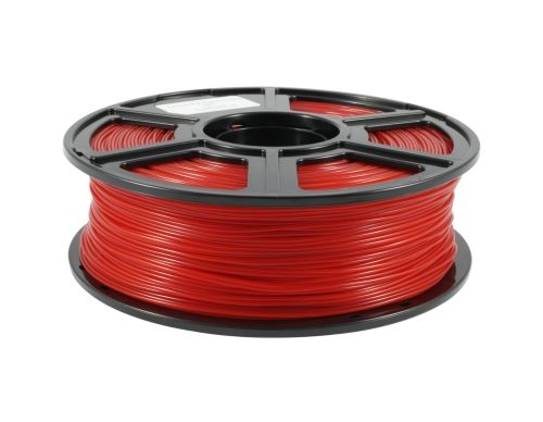 Flashforge PLA Transparent Rot 1.75 mm 1 kg