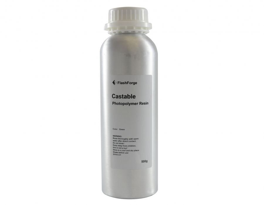 Flashforge Castable Resin Grün, 500 ml
